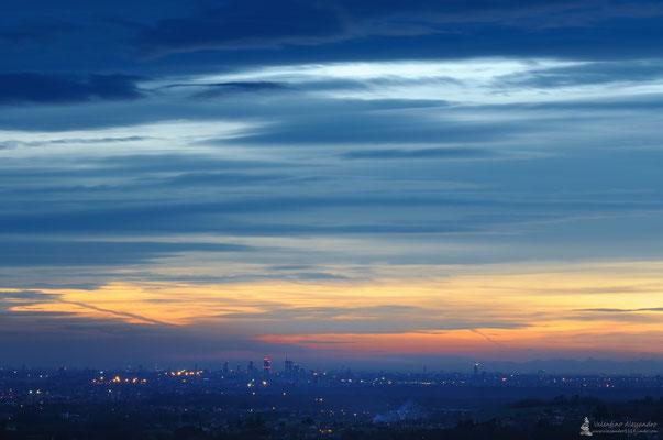 Milano al tramonto cista da Montevecchia