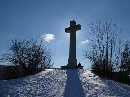 Das Ruckenkreuz in Blaubeuren im Feb. 2021