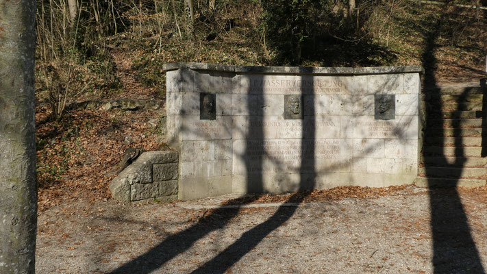 Blautopf Blaubeuren 16. Feb. 2019 Denkmal Albwasserversorgung