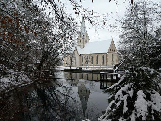 Kloster Blaubeuren mit Blautopf 13. Jan. 2021