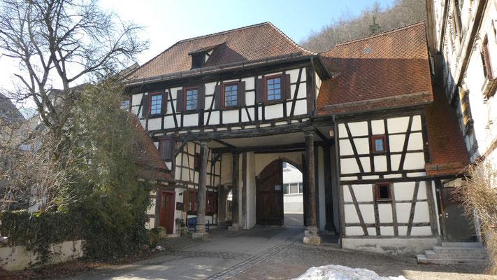 Kloster Blaubeuren, Klosterhofeingang 16. Feb. 2019