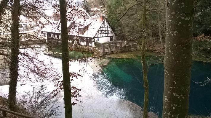 Blautopf Blaubeuren 05. Jan. 2021 Schüttung 926 Liter/sec