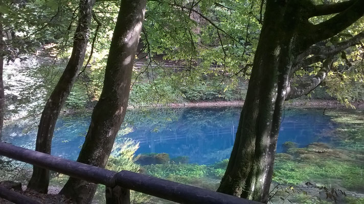 Blautopf in Blaubeuren 30.Sept.2020 Pegelstand 3 cm, Schüttung 750 l/sec