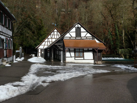 Hammerschmiede in Blaubeuren am 29. Jan. 2021
