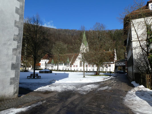 Klosterhof in Blaubeuren am 29. Jan. 2021