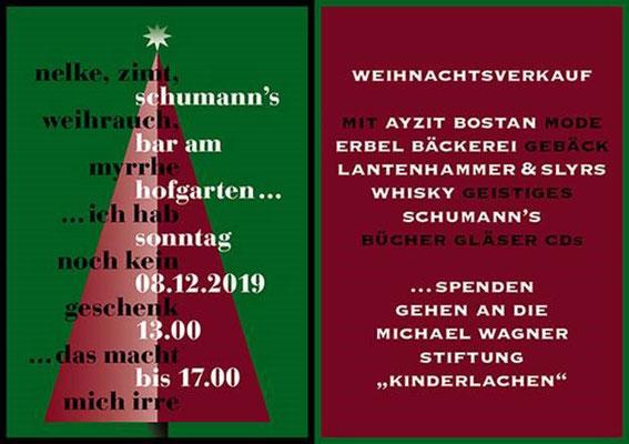 Schumann's Bar München: Auch 2019 für notleidende Kinder im Einsatz. Vielen Dank für das Engagement und die großzügige Spende!