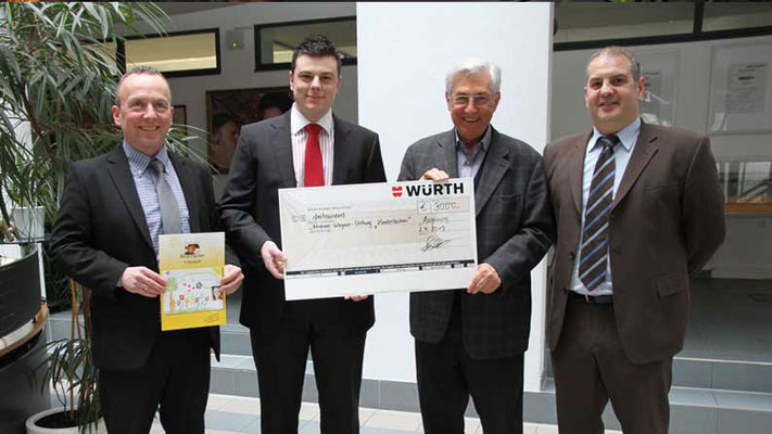 Adolf Würth GmbH & Co. KG. Spende für notleidende Kinder und Jugendliche