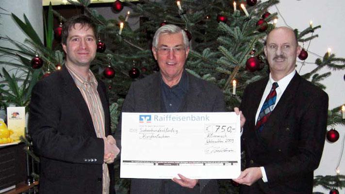 BSZ GmbH, Schwabmünchen. Spende anstelle Präsente an Kunden und Geschäftspartner Weihnachten 2009