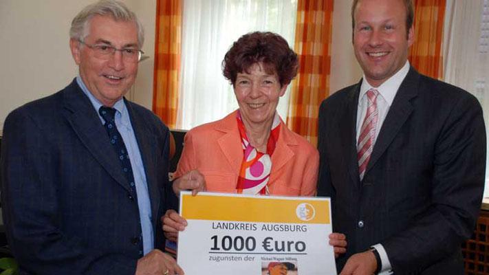 Landkreisfest 2009 in Dinkelscherben. Einnahmen aus dem Losverkauf