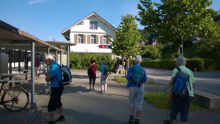 Start und Ziel: Bahnhof Steg im Tösstal