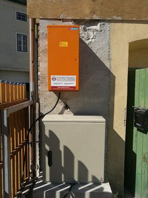 Freistehender Zählerkasten + Baustromverteiler