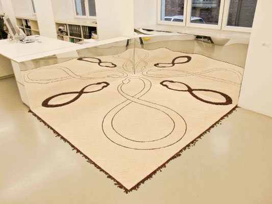 Ouroboro, 2010. Rice and beans. 2.20 x 2.20m