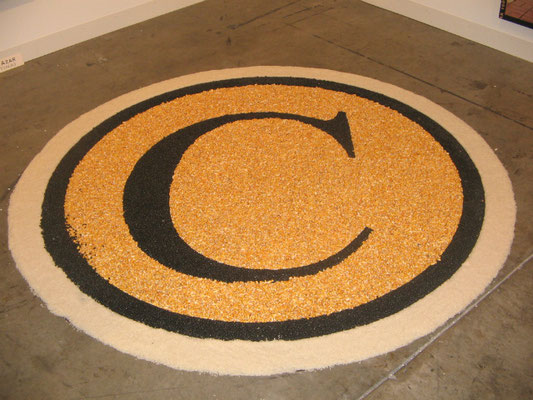 Copyright, 2005. Corn, rice and beans. 3m diameter