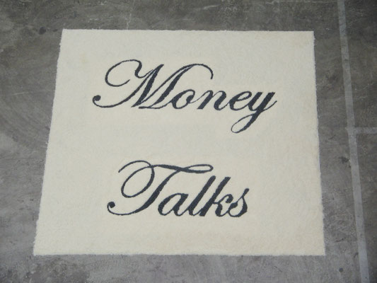 Money Talks, 2003. Rice and beans. 3 x 3m