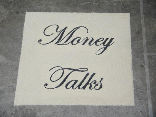 Money Talks, 2003. Rice and beans. 3 x 3m