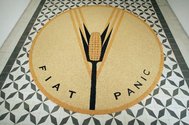 Fiat Panic, 2008. Corn and beans. 5,40 m diameter