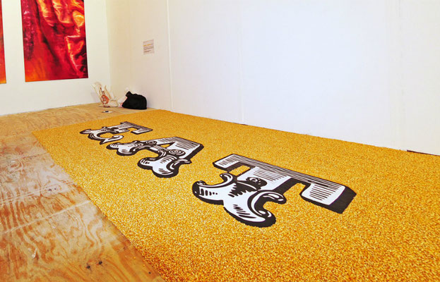 Eat, 2008. Corn. 2.20 x 3m