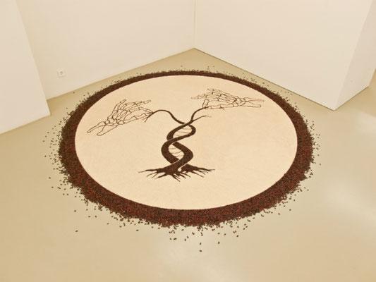 GMO, 2010. Rice and beans. 280cm diameter