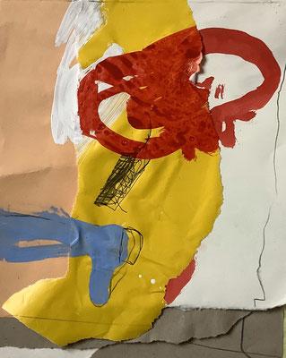 Evelyne Knobling, Collage, Mischtechnik, 2020, 30 x 40 cm, 260-, €