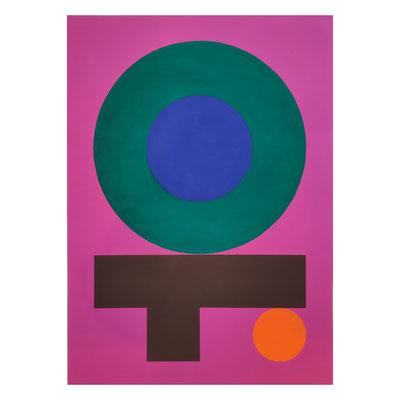 Ellen Roß, squares + circles 20/11/20, 2020, Vinyl auf 400 gr/qm FABRIANO Papier, 50 x 70 cm, 720,-€