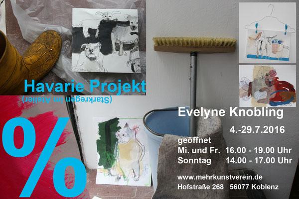 Evelyne Knobling: Havarie. Malerei und Zeichnung, mehrkunst e.V.  Hofstraße 268, 56077 Koblenz