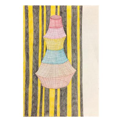 Nina Midi: Ohne Titel, Buntstift auf Papier, 2016, 20 x 26 cm, 60,- € gerahmt