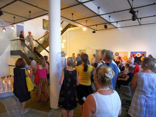 Schnappschuss von der Eröffnung Foto Arndt Schwab