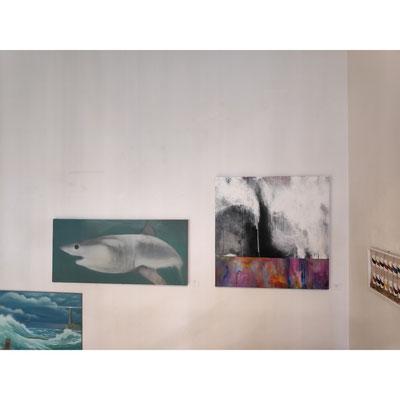 Der Hai: Tobias Küch, daneben: Nicole Kienitz