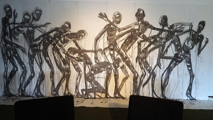 Schattenfang, ein Projekt der Performancegruppe Dimensionen