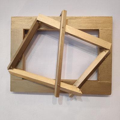 Tobias Küch: Frame the frame, Holz, Acryl, 30 x 40 cm, 70,- €