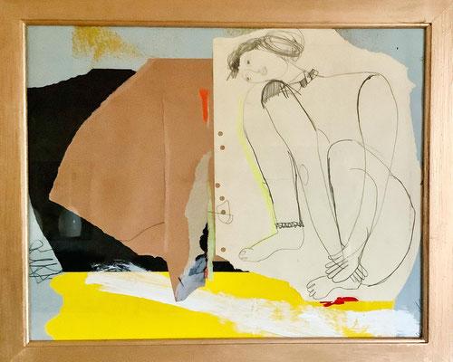 Evelyne Knobling: Collage, Mischtechnik, 45 x 55 cm, 320,- €