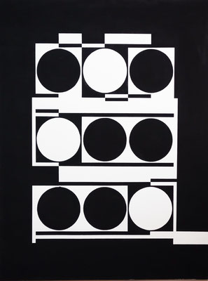 Ellen Roß: Bianco/Nero n°2, 2016, Vinyl auf Bütten, 41 x 63 cm