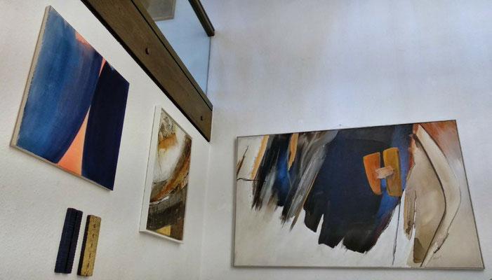 von links: Bild und Objekte Violetta Richard, Maria Zühlke, Artur Bozem