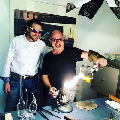 Cedric Schwitzer zu Besuch im Atelier....