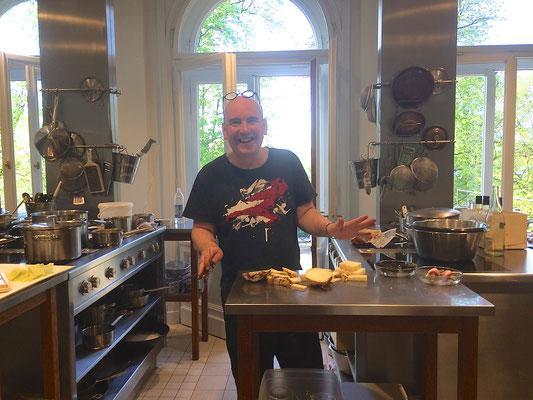 Christian Grünwald in seinem Element Restaurant August**  Augsburg
