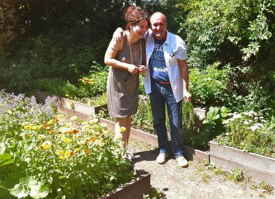 bei Maria Groß im Clara Garten....