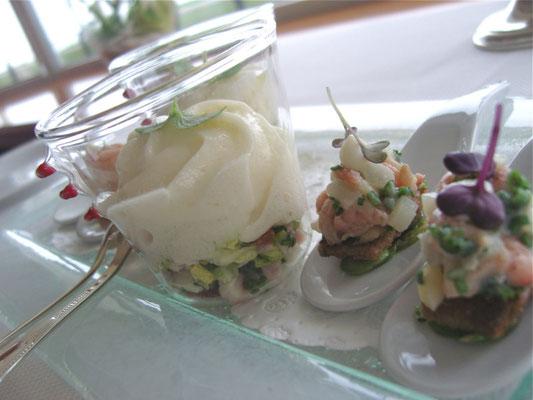 Sweety.......amuse gueule...Schaum v. weisser Tomate.....Marc Rennhack/ Restaurant Sterneck