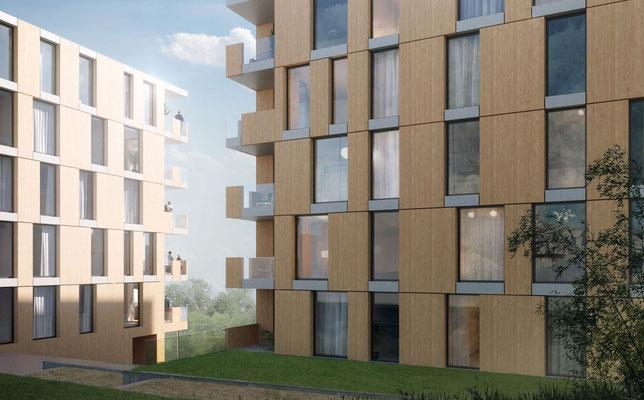 Visualisierung, Gebäude (O2a), Zwischenzone