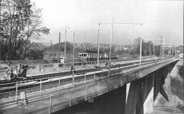Worblaufen, neue-Tiefenaubrücke 1965