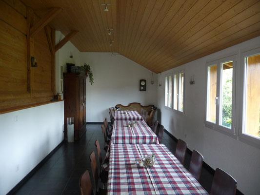 Impressionen vom Eventraum - Jordi-Hof Bewirtung und Übernachtung auf dem Bauernhof in Ochlenberg