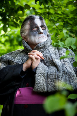 "The Badger ""Grimbart"" played by Harrie Mueller-Rothgenger. Photography by Simona Bednarek (© 2015)"