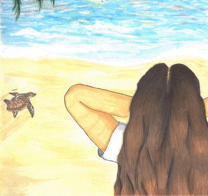 "Isaiah S.J., ""Enjoying the Sunset"""