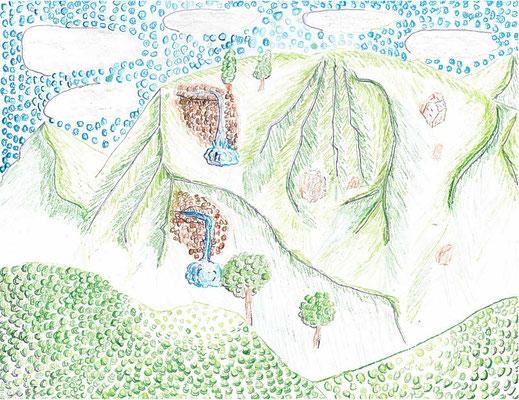 """Isaiah S., """"Mountains of Kaua'i"""""""