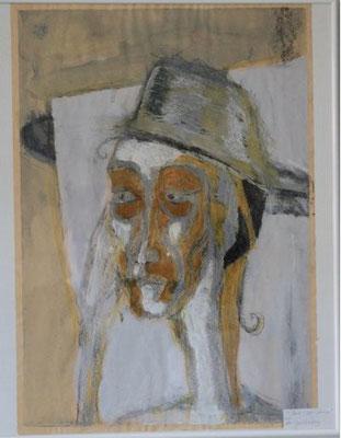 """""""Tous les deux"""" - Figur aus Thomas Mann """"Der Zauberberg""""; Mischtechnik auf Papier; 40 cm x 60 cm, 150 €"""