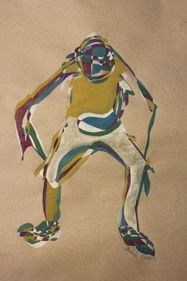 Troll, Aquarell und Buntstift auf Papier, 2017, 42 cm x 29 cm