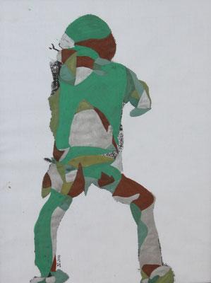 Axel embracing life, Aquarell und Buntstift auf Papier, 2017, 42 cm x 29 cm
