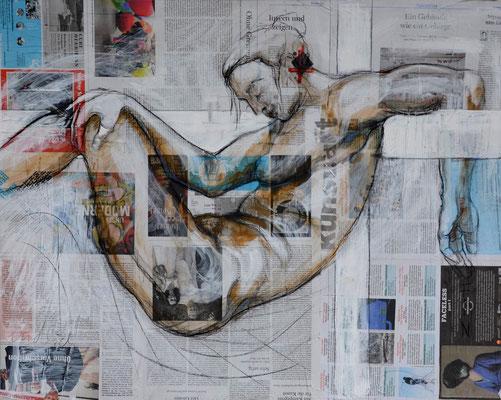 KREUZABNAHME, Mischtechnik auf MDF-Platte, 68x85 cm