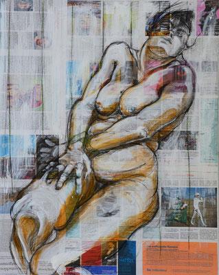 ANTIGONE, Mischtechnik auf MDF-Platte, 85x68 cm