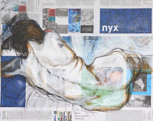 NYX, Mischtechnik auf MDF-Platte, 68x85 cm
