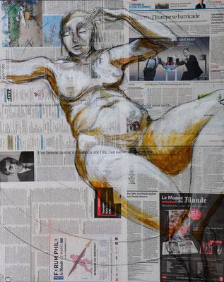 MERE DU MONDE, Mischtechnik auf MDF-Platte, 85x68 cm